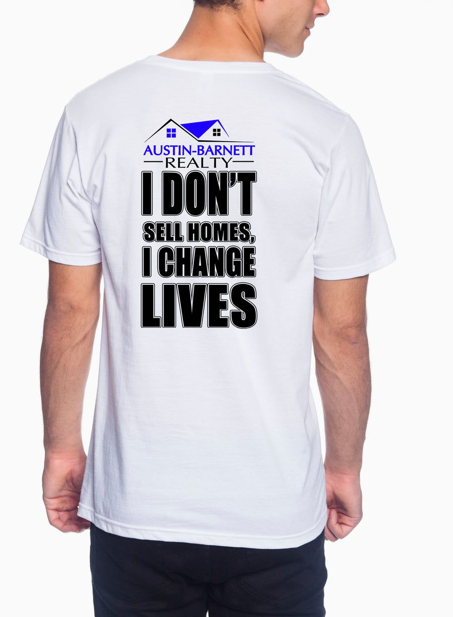 Change Lives Adult Lightweight Tee White
