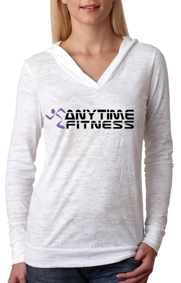 Anytime Fitness WOMENS BURNOUT HOODY White
