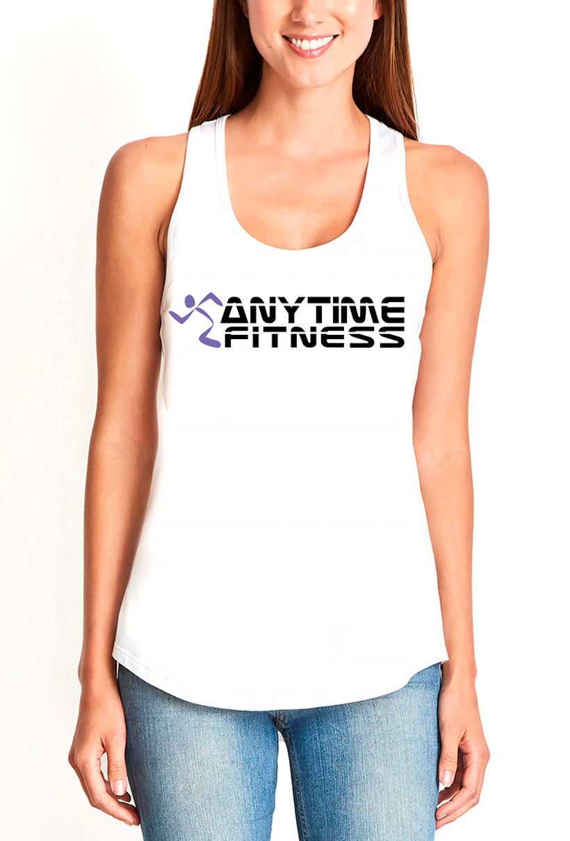 Anytime Fitness Women's gather back tank white