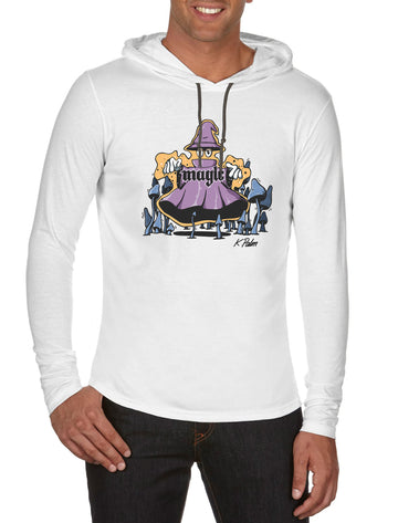 Magic Long Sleeve hooded T-shirt White