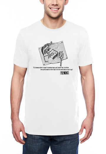 M.C. Escher Tribute Adult Lightweight Tee White