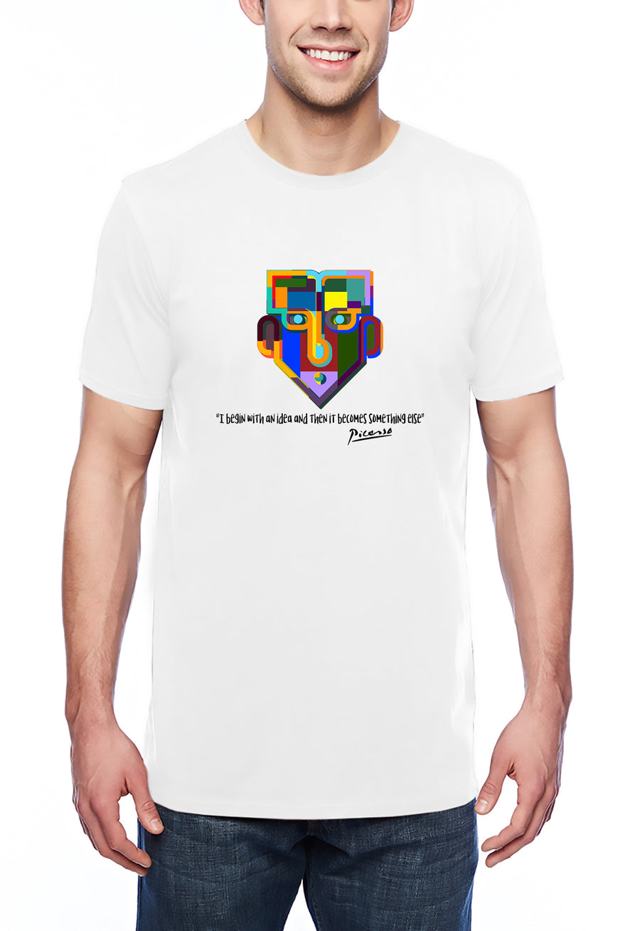 Picasso Tribute Adult Lightweight Tee White