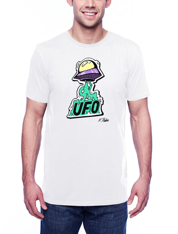UFO Adult Lightweight Tee White