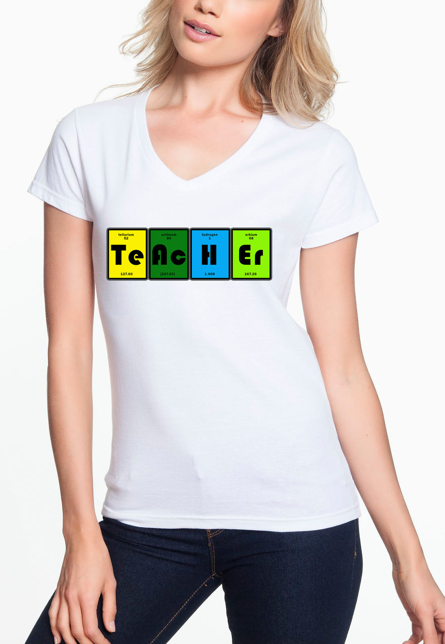 Teacher table - Women's Lightweight V-Neck Tee white