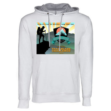 Trailblaze Collection Next Level French Terry Hoodie White and Grey