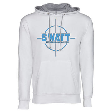 SWATT Blue Next Level French Terry Hoodie White and Grey