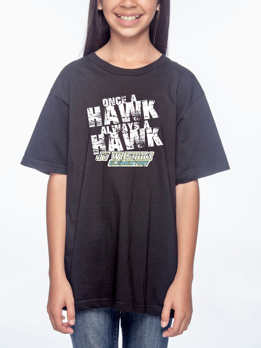 Always a Hawk Youth Lightweight Tee Black
