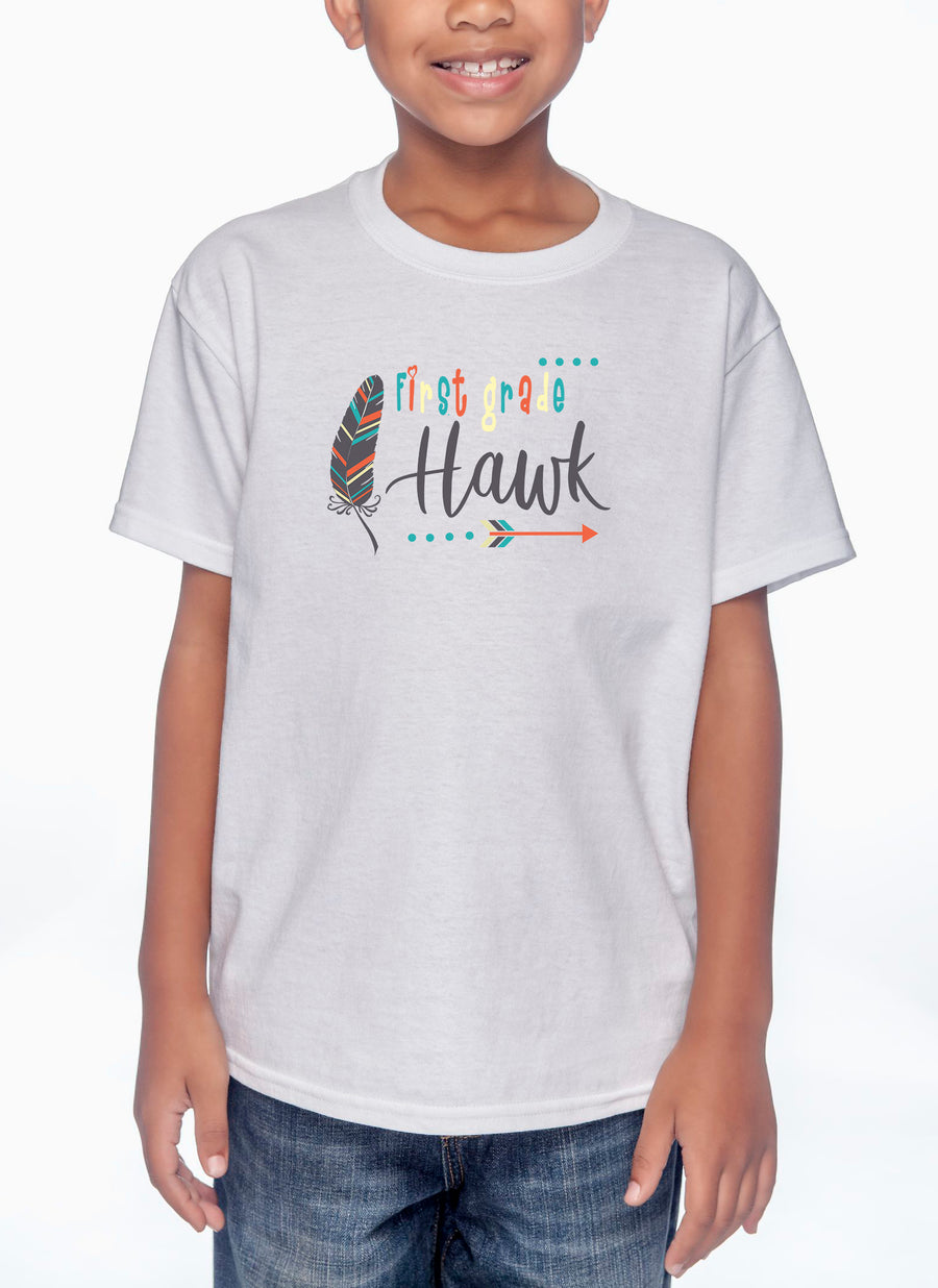 First Grade Youth Lightweight Tee White