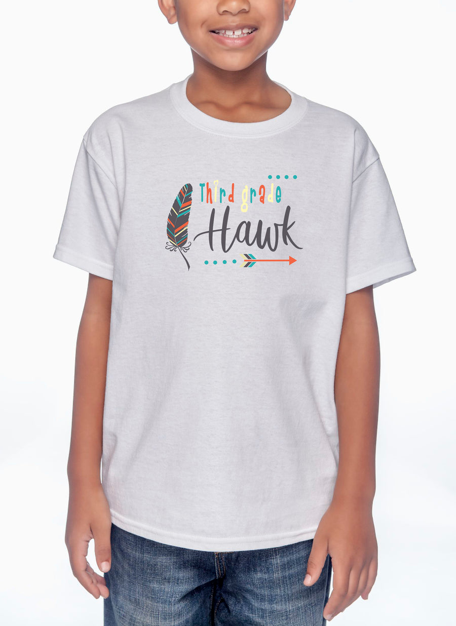 Third Grade Youth Lightweight Tee White