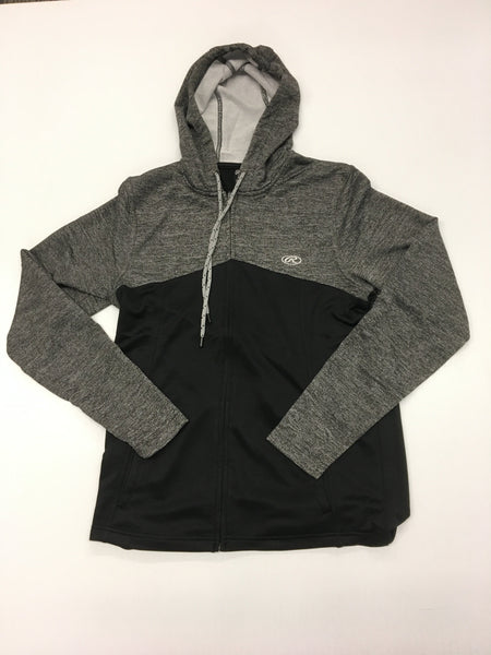 black Mix Hoody Zip 6-20455