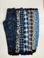 MENS PJ Jogger - grey/blue plaid    6-20528