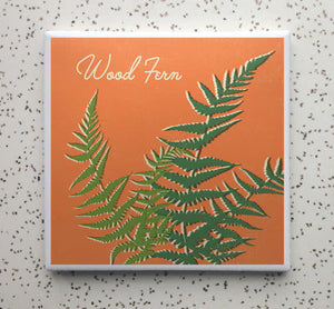 Wood Fern Coaster