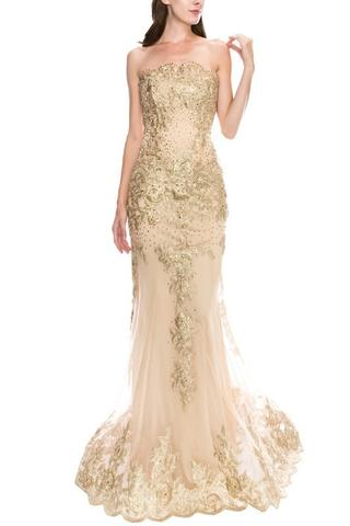 Champagne Floor Gown Large