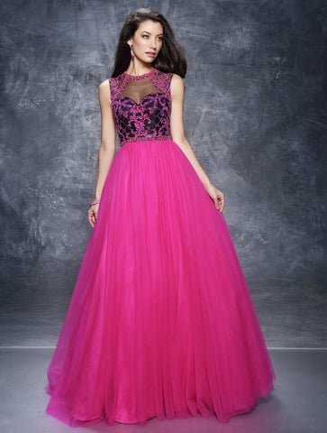 Fuschia And Black Size 8