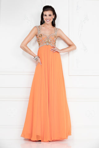 Orange Chiffon Dress Size 4