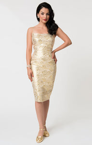 Barbie Brocade Sheath Dress