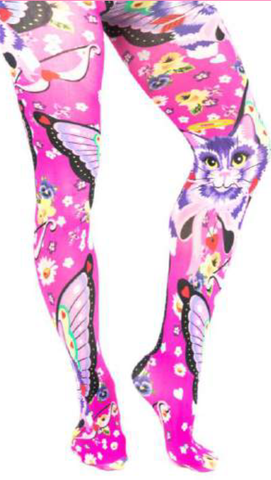 Cat And Butterfly Tights