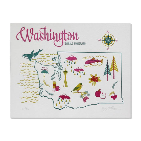 Washington Letterpress Print