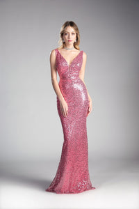 Fuchsia Sequin Sheath Dress Size 10