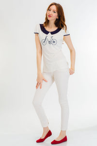 White Bicycle Top