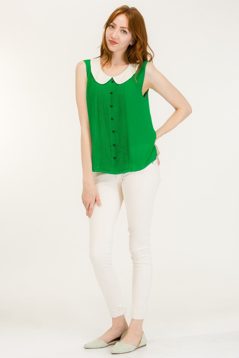 Green Collar Top