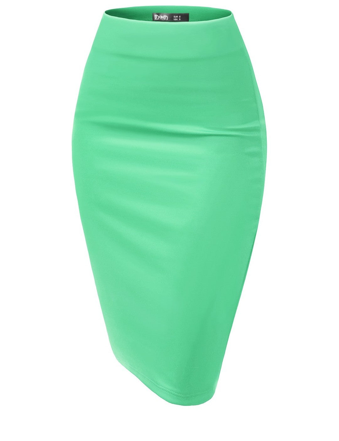 Midi Mint Pencil Skirt