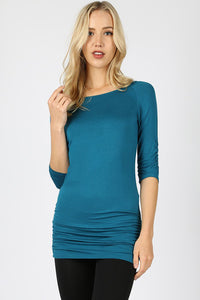 Teal 3/4 Sleeve Tunic