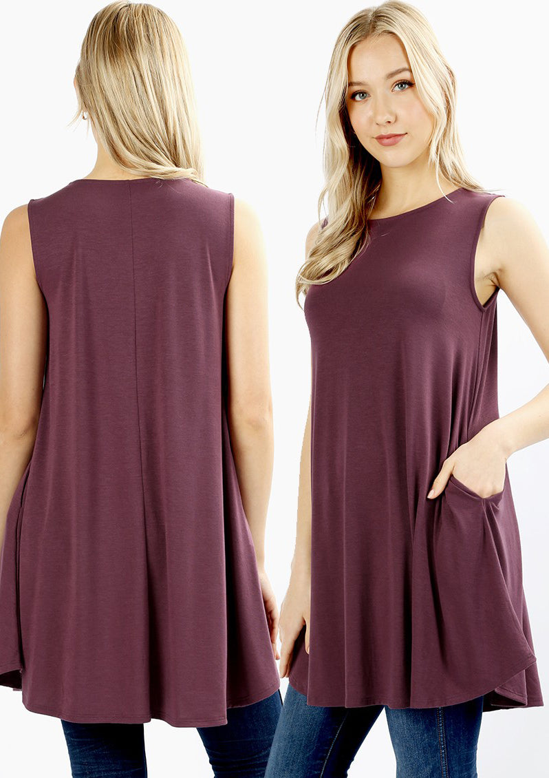 Flared Tunic (multiple colors)