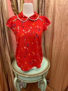 Red Bird Blouse