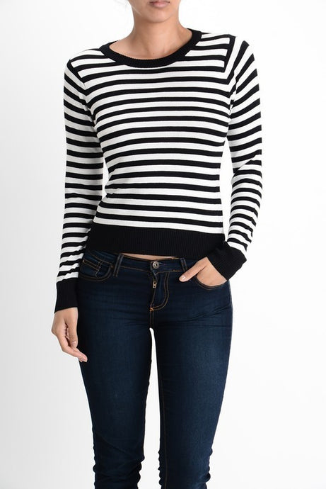 Striped Pullover (multiple colors)