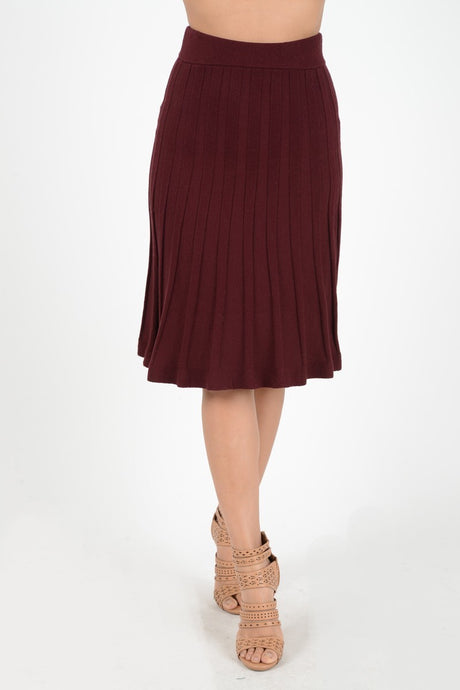 Knit Flare Skirt (multiple colors)
