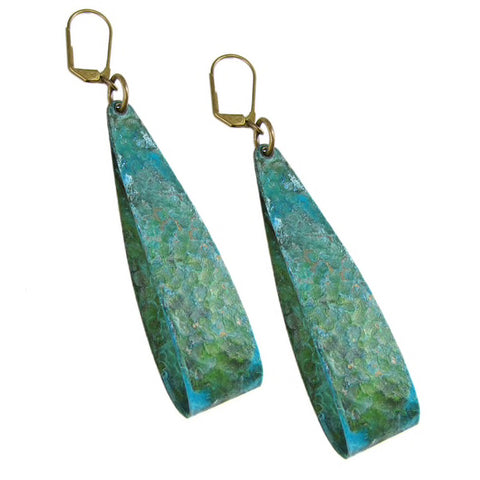 Verdigris Loop Earrings