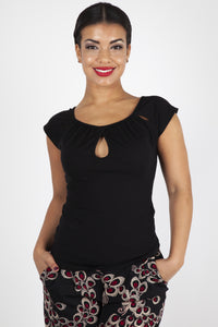 Keyhole Twist Knit Top