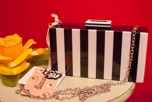Black And White Mod Box Purse