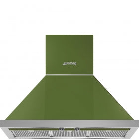 "Smeg - 30"" Portofino Wall Mount Chimney Hood"