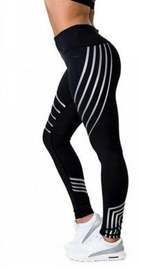 Mulit-Color Bright Strips Leggings