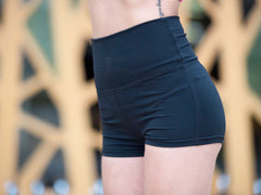 High Waist Elastic Athletic Shorts