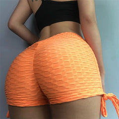 High Waist Pump Pattern Shorts