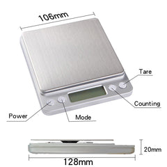 Portable Mini Electronic Food Scales Pocket Case