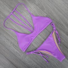 Micro Brazilian Bikini Set Push Up Swimwear (13 Colors)