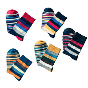 C02:  Men's Soft Colorful Anti-Skid Comfortable Long Socks - 5 Pairs