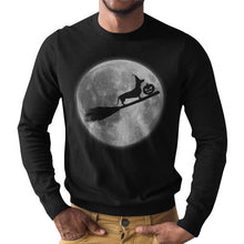 Load image into Gallery viewer, Dachlove.com Dachshund Witch in broomstick Unisex Long Sleeve T-Shirt, T-shirt- Dachshundloversonline  brings together dachshund merchandise, original and unique designed sausage dog gifts, accessories from all around the world.  The perfect addition to your dachshund loving home.  Find it in one store where you can buy them online and free shipping worldwide to your doorstep.