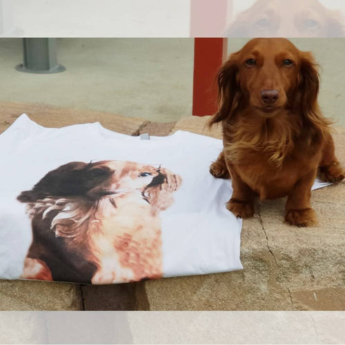 Dachlove.com Customized Photo Short-Sleeve Unisex T-Shirt, Custom Items- Dachshundloversonline  brings together dachshund merchandise, original and unique designed sausage dog gifts, accessories from all around the world.  The perfect addition to your dachshund loving home.  Find it in one store where you can buy them online and free shipping worldwide to your doorstep.