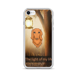 Dachlove.com Dachshund iPhone Case Light of My Life, Cases- Dachshundloversonline  brings together dachshund merchandise, original and unique designed sausage dog gifts, accessories from all around the world.  The perfect addition to your dachshund loving home.  Find it in one store where you can buy them online and free shipping worldwide to your doorstep.