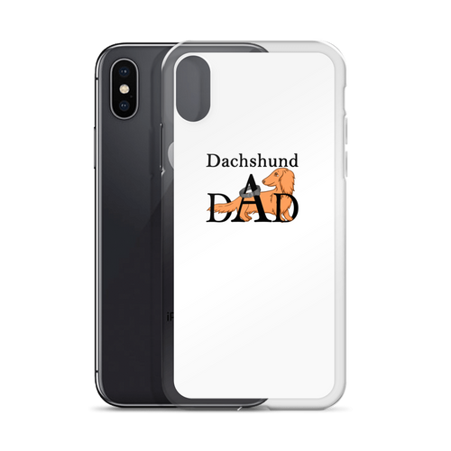 Dachlove.com Dachshund Dad iPhone Case, iPhone Accessories- Dachshundloversonline  brings together dachshund merchandise, original and unique designed sausage dog gifts, accessories from all around the world.  The perfect addition to your dachshund loving home.  Find it in one store where you can buy them online and free shipping worldwide to your doorstep.