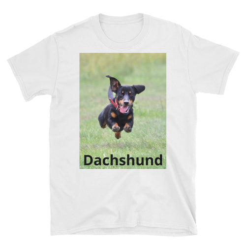 Dachlove.com Customized Photo and Text Short-Sleeve Unisex T-Shirt, Custom Items- Dachshundloversonline  brings together dachshund merchandise, original and unique designed sausage dog gifts, accessories from all around the world.  The perfect addition to your dachshund loving home.  Find it in one store where you can buy them online and free shipping worldwide to your doorstep.