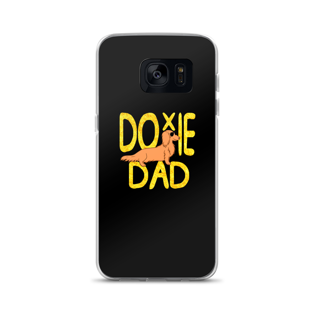 Dachlove.com Doxie Dad Samsung Case, Samsung Phone Case- Dachshundloversonline  brings together dachshund merchandise, original and unique designed sausage dog gifts, accessories from all around the world.  The perfect addition to your dachshund loving home.  Find it in one store where you can buy them online and free shipping worldwide to your doorstep.