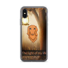 Load image into Gallery viewer, Dachlove.com Dachshund iPhone Case Light of My Life, Cases- Dachshundloversonline  brings together dachshund merchandise, original and unique designed sausage dog gifts, accessories from all around the world.  The perfect addition to your dachshund loving home.  Find it in one store where you can buy them online and free shipping worldwide to your doorstep.
