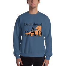 Load image into Gallery viewer, Dachlove.com Dachshund dAd Sweatshirt, Sweatshirt- Dachshundloversonline  brings together dachshund merchandise, original and unique designed sausage dog gifts, accessories from all around the world.  The perfect addition to your dachshund loving home.  Find it in one store where you can buy them online and free shipping worldwide to your doorstep.