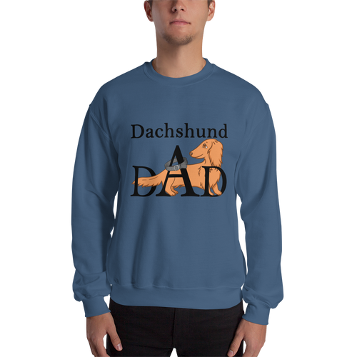 Dachlove.com Dachshund dAd Sweatshirt, Sweatshirt- Dachshundloversonline  brings together dachshund merchandise, original and unique designed sausage dog gifts, accessories from all around the world.  The perfect addition to your dachshund loving home.  Find it in one store where you can buy them online and free shipping worldwide to your doorstep.